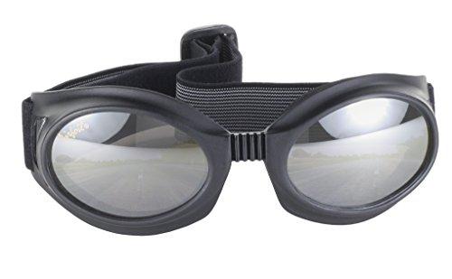 Pacific Coast Airfoil Motorcycle Riding Goggles Lens Kit Black FrameSmoke Grey Yellow Rose Lens