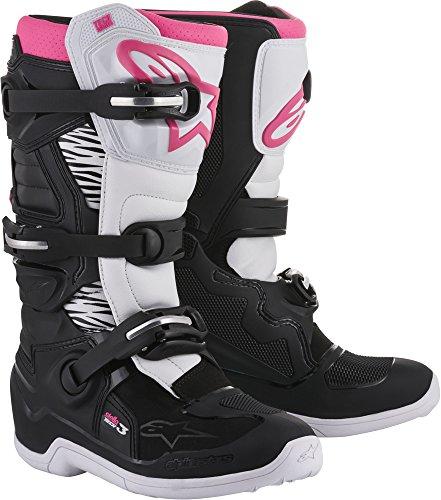 Alpinestars Tech 3 Stella Womens Motocross Off-Road Motorcycle Boots 2018 Version BlackWhitePink Size 9