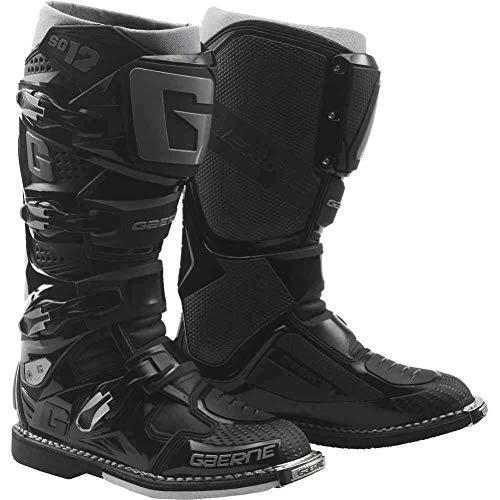 New 2019 Gaerne SG-12 Mens Motocross Boots Black 11 BLACK