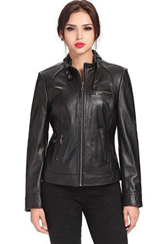 "Cruzer Women's ""julie"" Cowhide Leather Motorcycle Jacket"