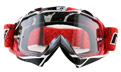 NENKI MX Goggles NK-1019 Motocross Goggle Techline RedClear Lens
