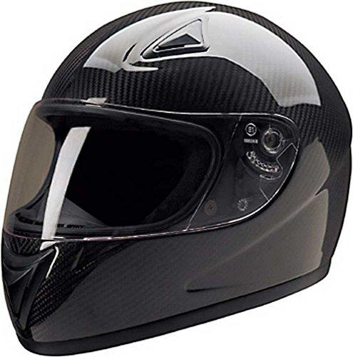 HCI Light-Weight Carbon Fiber Full Face Motorcycle Helmet 75-750 2XL
