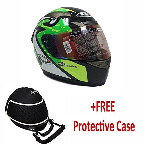 PREMIUM SHIRO CARBON FIBER Adult Full Face Helmet MotoGP Replica DOTECE FREE CARE CASE XX-LARGE