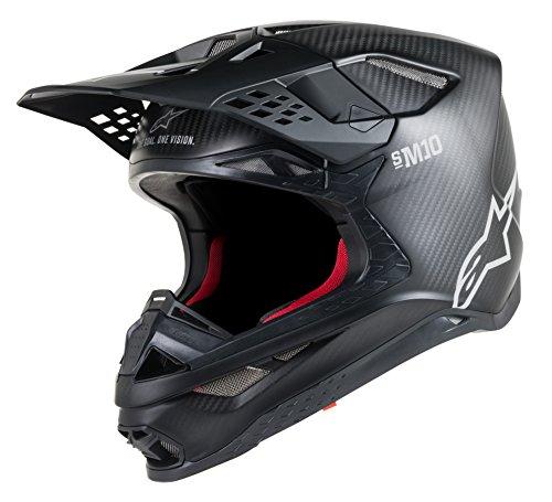 Alpinestars Supertech S-M10 Solid Off-Road Motocross Helmet Medium Carbon Black