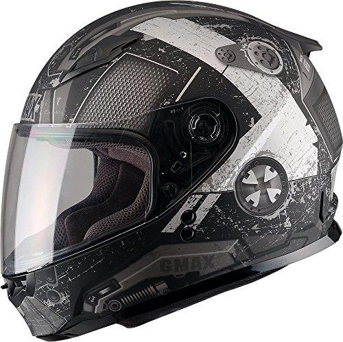 Gmax GM49Y unisex-child full-face-helmet-style Youth Motorcycle Street Helmet Trooper Flat BlackWhiteSilverMedium1 Pack