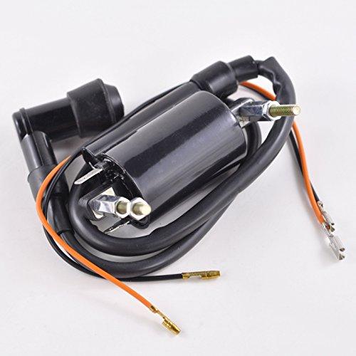 External Ignition Coil With Spark Plug Cap For Kawasaki KLF 300 Bayou 1997 1998 1999 2000 2001 2002 2003 2004 OEM Repl 21121-1264 21160-1089 21130-024 21130-1007