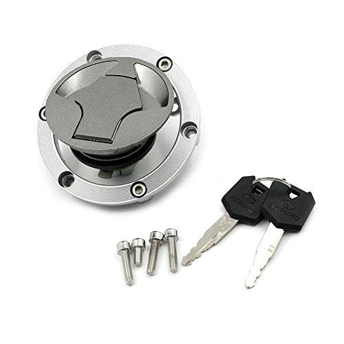 Alpha Rider Motorcycle Fuel Gas Tank Cap Cover Locks and Keys Kit for Kawasaki EX Ninja 250R 2008 - 2012 NINJA 300 2013 - 2014