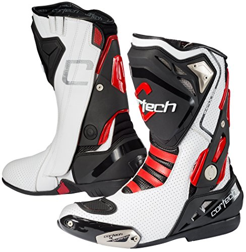 Cortech Impulse Air Motorcycle Race Boot White/red