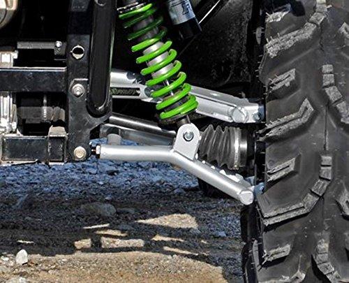 Super ATV Kawasaki Teryx 4 High Clearance Rear Offset Rear A-Arms Black