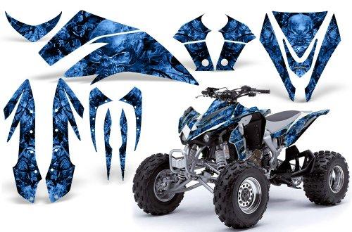 CreatorX Kawasaki Kfx 450 Graphics Kit Decals Stickers Inferno Blue