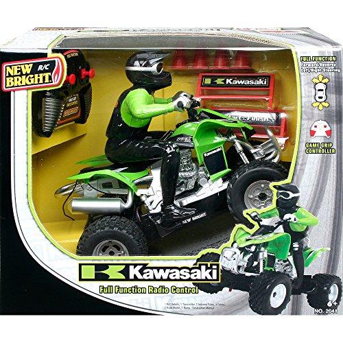 New Bright 120 RC Kawasaki KFX 450 with Rider Green