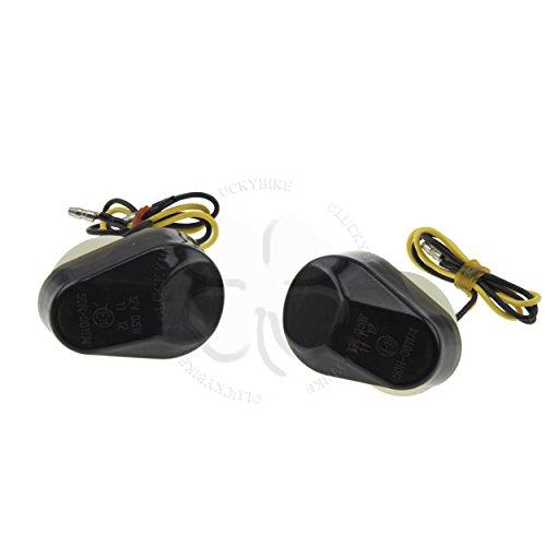 Flush Mount LED Turn Signals - Smoke - Kawasaki Ninja 98-06 ZX6R 636 96-03 ZX7R 98-03 ZX9R 04-05 ZX10R 00-05 ZX12R 05-08 ZZR600 ZZR 600 start