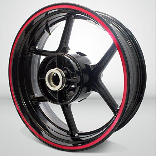 Thick Outer Rim Liner Stripe for Kawasaki Ninja 650 Reflective Red