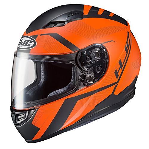 HJC Unisex Adult Full Face Helmet OrangeBlack XL