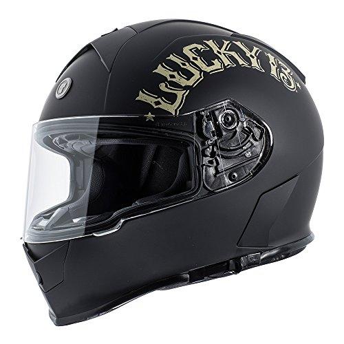 TORC Unisex-Adult Full Face helmet Flat Black Bullhead Large