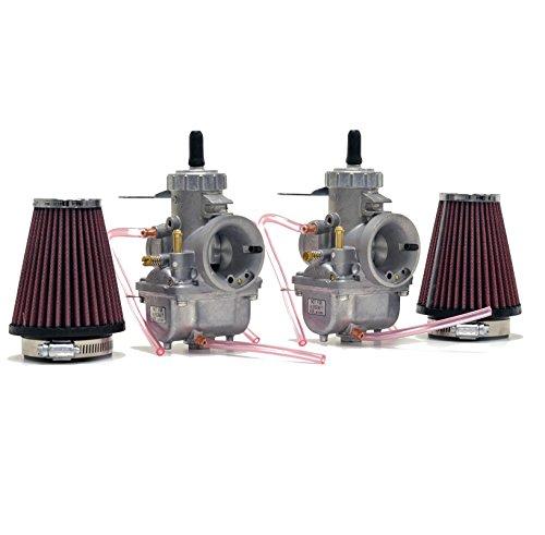Honda CB350 CL350 Mikuni VM30 30mm Carb Carburetor Kit Cables NCS247 by Niche Cycle Supply