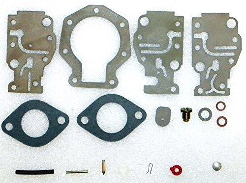 Johnson Evinrude Complete Carburetor Kit without float 9915 Hp 2 CYL 1989-1996 WSMSierra 18-7219 OEM 439073 431897