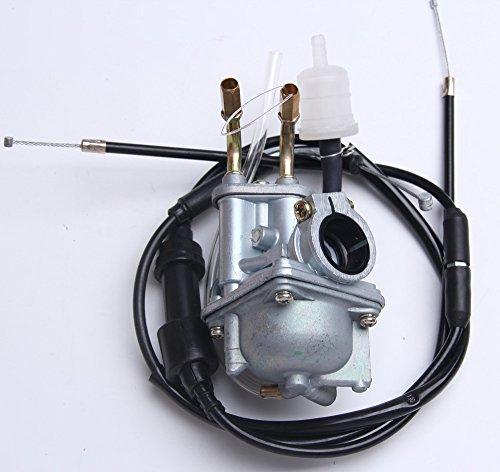 New Carburetor W Throttle Cable For YAMAHA 2 stroke YF60 QT50 PW50 Y-Zinger