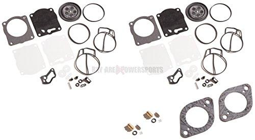 Twin Carb Rebuild Kit Needle Seat Base Gaskets Sea Doo 947 951 GSX XP RX GTX