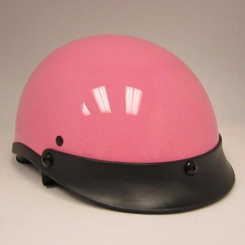 Motorcycle Street Bike Scooter Half Face Vespa Helmet Glossy Pink