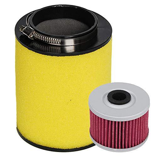HIFROM Air Filter Element Cleaner 17254-HP5-600 with Oil Filter for Honda Rancher TRX420 TRX420FE TRX420FM TRX420TE TRX420TM 2007-2013