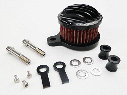 "4"" Motorcycle Black Air Cleaner Intake Filter for 2004-2014 Harley Sportster XL 883 1200 Custom Nightster XL1200N XL1200C XL883 Roadster XL883R 2005 2006 2007 2008 2009 2010 2011 2012 2013 04-14"
