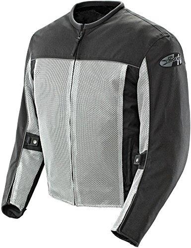 Joe Rocket Mens Velocity Mesh Motorcycle Jacket Grey Medium