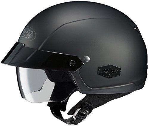 HJC Unisex Adult is-Cruiser Matte Black Half Helmet 0824-0135-03