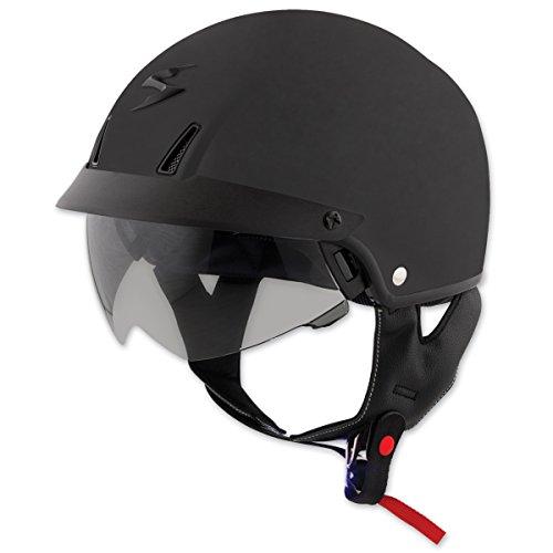 Scorpion EXO Unisex Adult -C110 Matte Black Half Helmet C11-0106