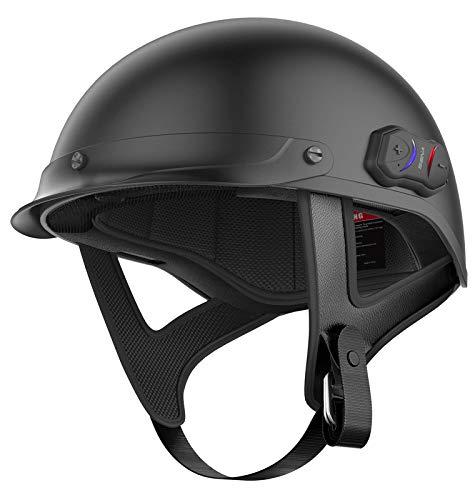 Sena Technologies Unisex Adult Cavalry Bluetooth Matte Black Half Helmet Cavalry-CL-MB-XS