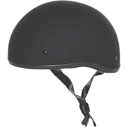 ZOX Unisex Adult Mikro Old School Matte Black Half Helmet Z88-00711