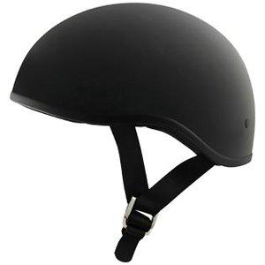 ZOX Unisex Adult Retro Old School Matte Black Half Helmet Z88-00102