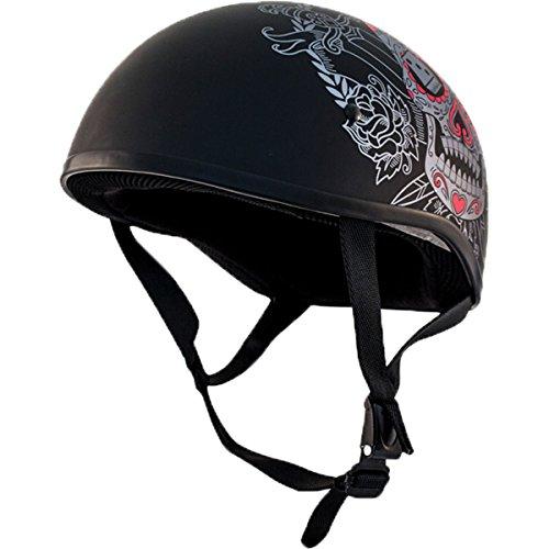 Zox Retro Old School Muerte Matte Black Half Helmet 88-34152