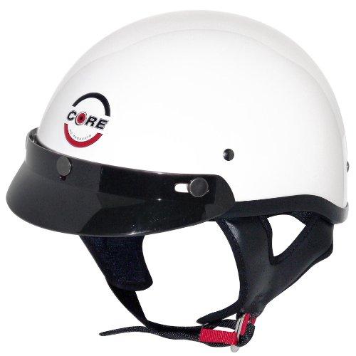 Core Cruiser Shorty Half Helmet White X-Large
