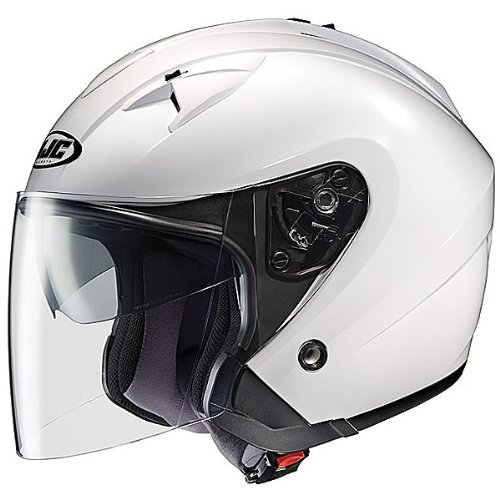 HJC Solid IS-33 Half 12 Shell Motorcycle Helmet - White  X-Large