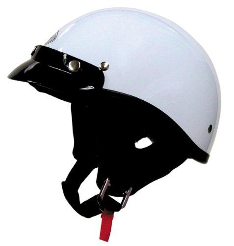 THH T-70 Ultra Lite Half Helmet Large  White