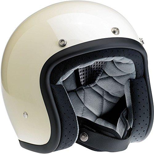 Biltwell Bonanza Half Helmet Gloss Vintage White X-Small