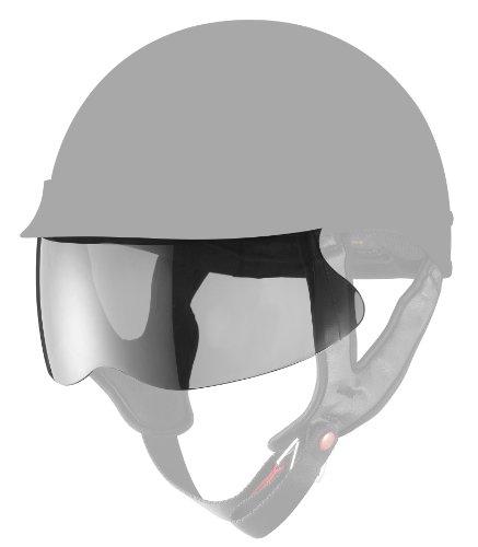 GLX Helmets Half Helmet Shield Smoke One Size