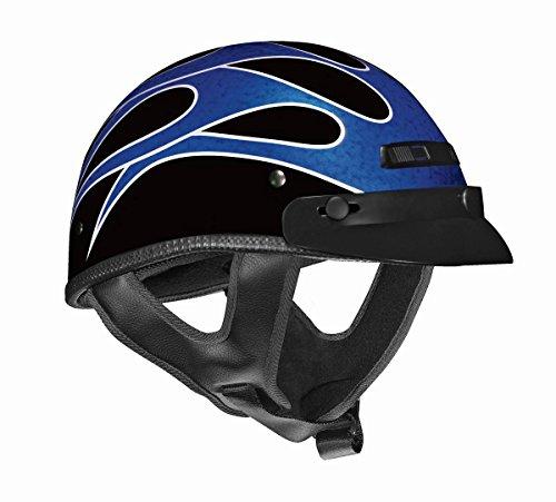 Vega XTS Flame Half Helmet Bright BlueMetallic Silver X-Large