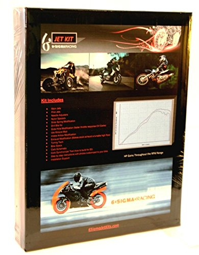 2008-17 Kawasaki KLR650 KLR 650 6 Sigma Custom Carburetor Carb Stage 1-3 Jet Kit