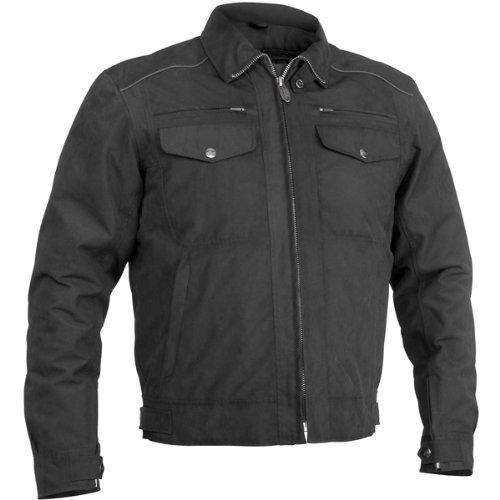 River Road Laughlin Mens Textile Cruiser Motorcycle Jacket - Black  Small