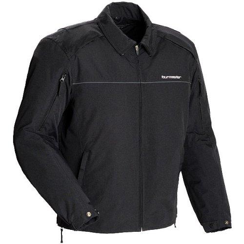 Tour Master Metro Mens Textile Cruiser Motorcycle Jacket - Black  Small
