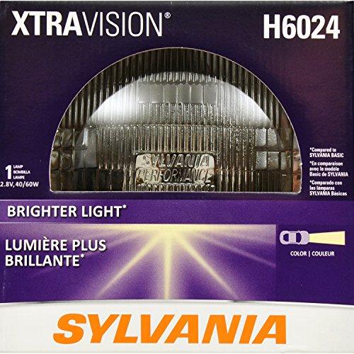 SYLVANIA H6024 XtraVision Halogen Sealed Beam Headlight 7 Round PAR56 Contains 1 Bulb