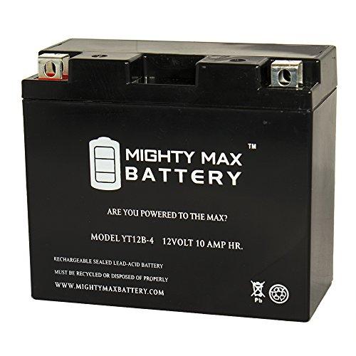YT12B-4 SLA 12V 10Ah Battery for Yamaha Ducati Kawasaki Triumph - Mighty Max Battery brand product