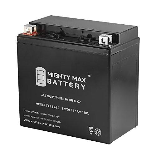 YTX14-BS Battery for Honda Suzuki Yamaha Kawasaki Triumph V Rod VRCS - Mighty Max Battery brand product
