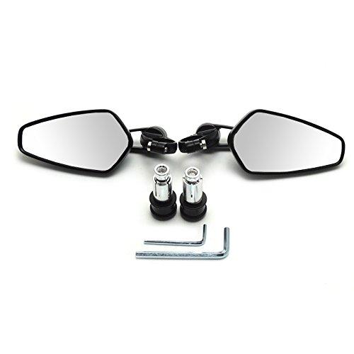 Universal Black 78 CNC Billet Aluminum Handlebar End Mirrors Rearview Side Mirror for Yamaha Honda Triumph Ducati