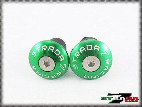 Strada 7 Racing CNC Handle Bar Ends Green For Ducati 695 Monster