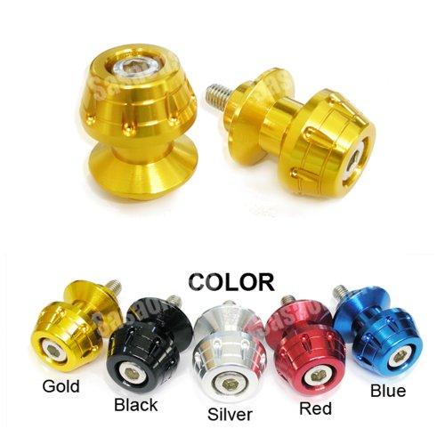 MIT Motors - GOLD - 8mm Universal Swingarm Spools - HONDA CBR F1 F2 F3 F4 F4i 600 900 929 954 1000 RR RVT 1000 RC51 SP1 SP2 DUCATI 749 999 1098