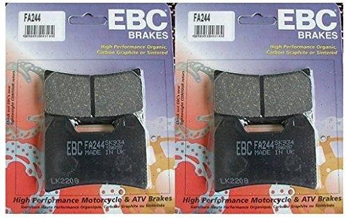 EBC Kevlar Organic Front Brake Pads 2 Sets for Both Calipers 2009-2011 Ducati Monster 1100  FA244
