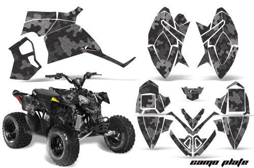 AMRRACING Polaris Outlaw 90 All Years Full Custom ATV Graphics Decal Kit - Camoplate Black